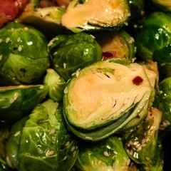 Another day, another roasted sprout. #eattherainbow #food #foodie #foodporn #paleo #onthetable #castiron #roast #foodphotography #foodieforever #asianfood #packlunch