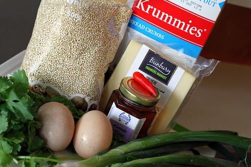 Ingredients for Quinoa Patties