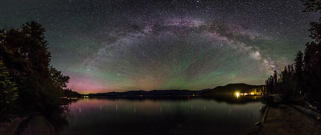 Priest Lake Milky Way Panorama