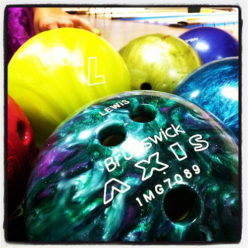 Prettiest bowling ball evah.
