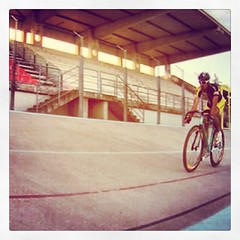 """The only trick to do with a #track #bike is going fast"" at the #velodrome of course #fixedgear #fixedforum"