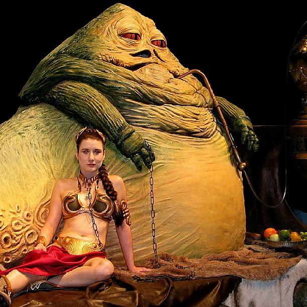 Jabba The Hut and Princess Leia | Star Wars | | Flickr ... Jabba The Hutt Choked