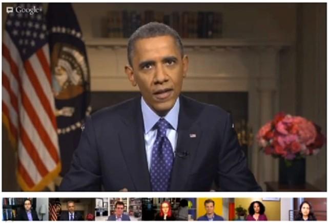 Hangout Obama