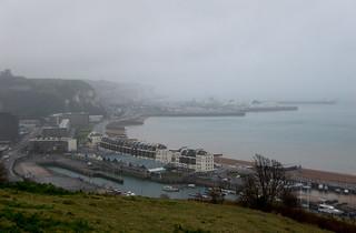 Vue sur Dover et les Eastern Docks
