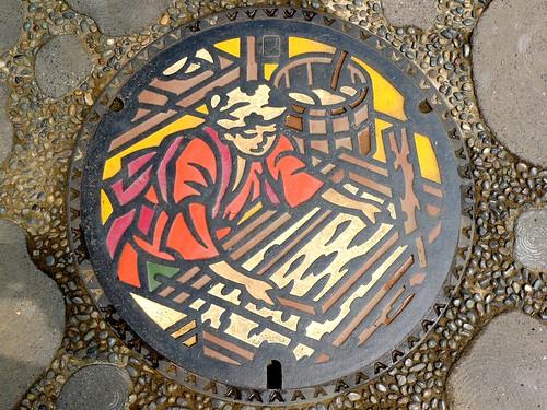 Imadate Fukui , manhole cover (福井県今立町のマンホール)