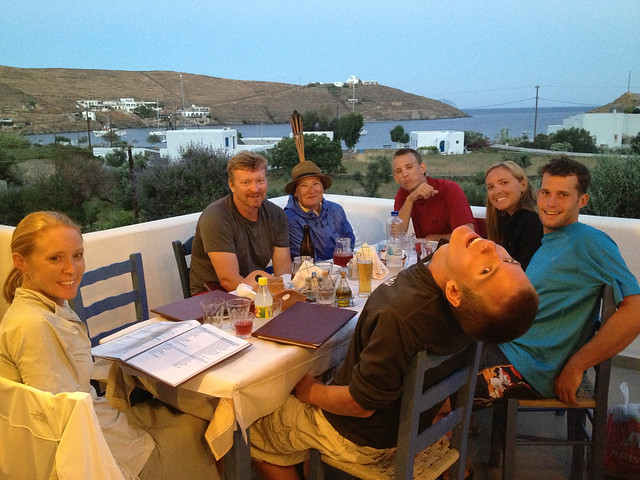 Dinner at the Taverna on Kythnos