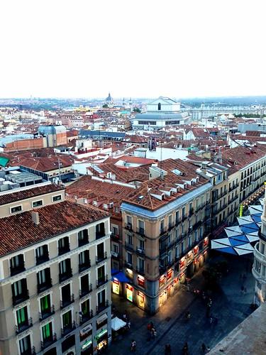 Vedere Madrid dall'alto
