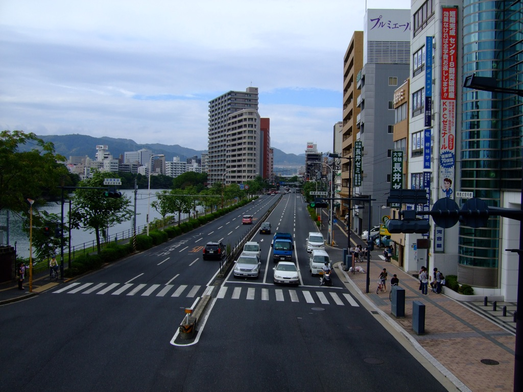 The clean streets of Hiroshima