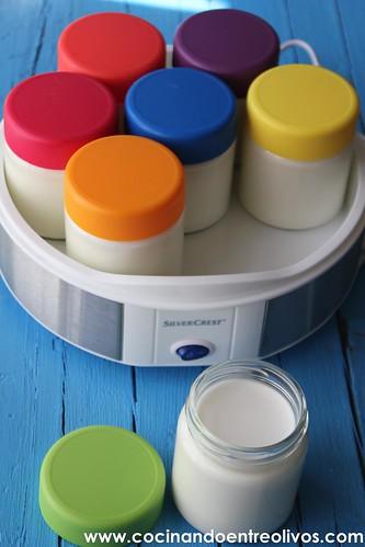Yogur natural azucarado Yogurtera Lidl www.cocinandoentreolivos (5)