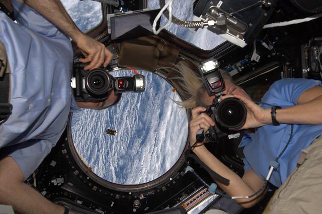 Space paparazzi!