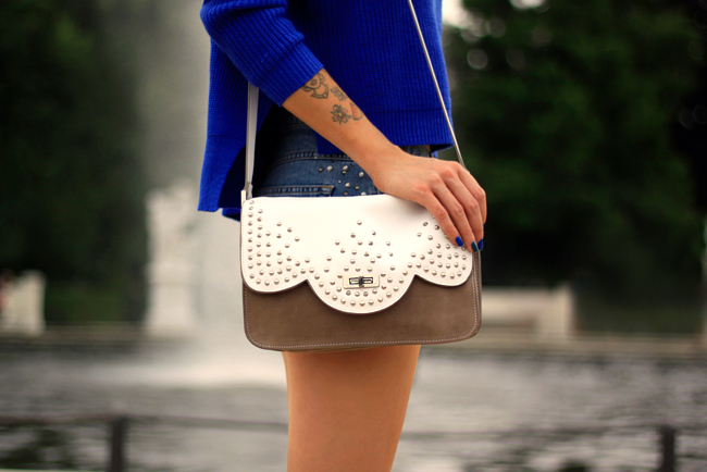 Chicnova blue outfit Betty bag 5