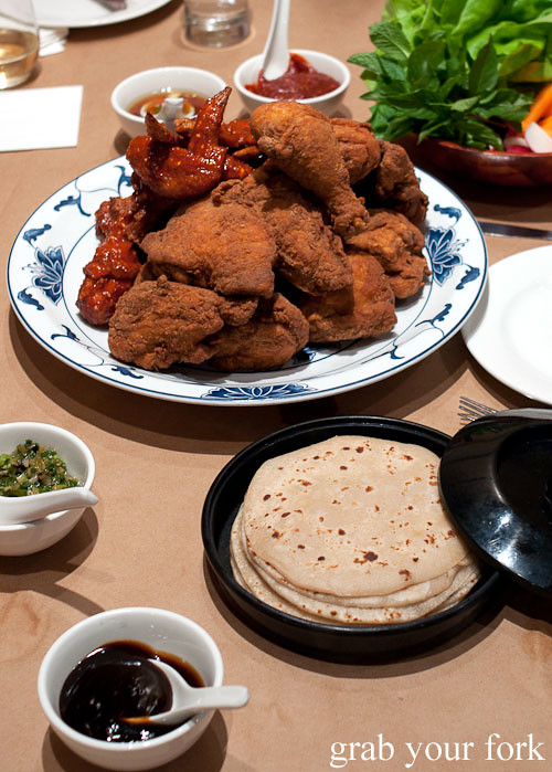 momofuku fried chicken mu shu pancakes at momofuku noodle bar nyc new york david chang