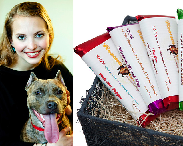 Sarah Gross, owner of Rescue Chocolate. Photos by Jessica Mahady.
