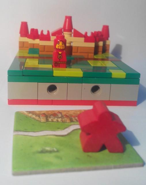 Tuile  de départ de Carcassonne en Lego
