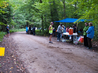 One of the aid stations along the course
