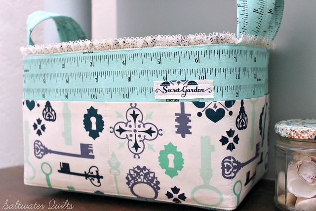 Sturdy Fabric Basket | Saltwater Quilts