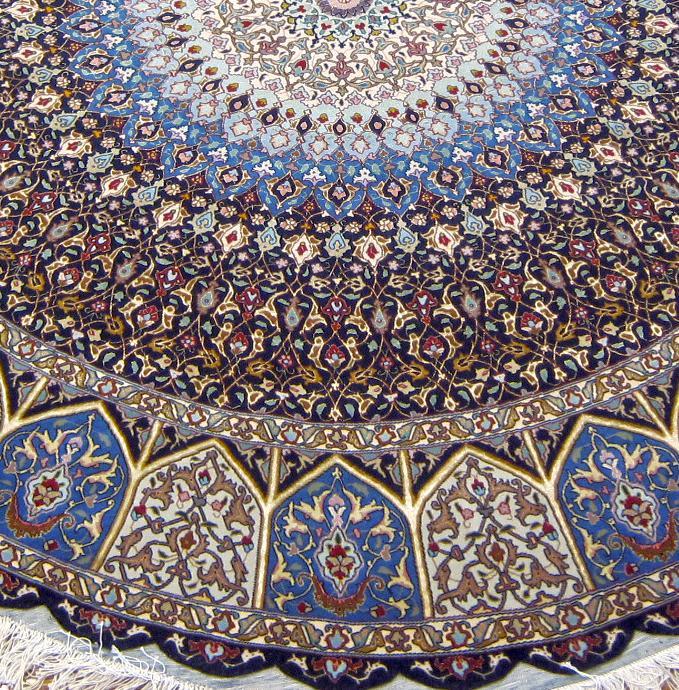 Royalty Gonbad Circular Persian Tabriz Area Rug 8x8