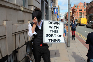 Anonymous Manchester Protest Against Scientology September 2013