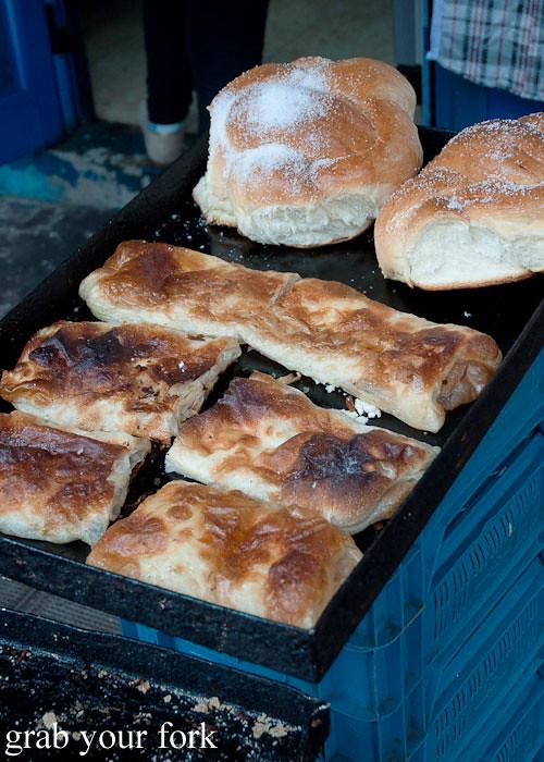 banitsa cheese pastries at Zhenski Pazar Jenski Pazar Women's Market Sofia