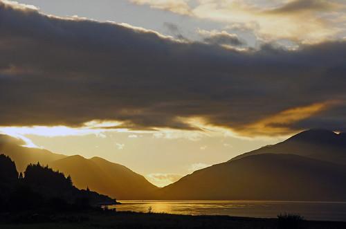 sunset mountains highlands sundown loch ballachulish lochlinnhe