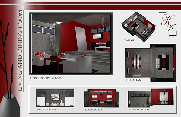 Interior design student work