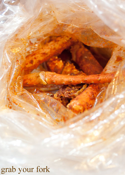 king crab Seafood Boiling Crab Korea Town Los Angeles California