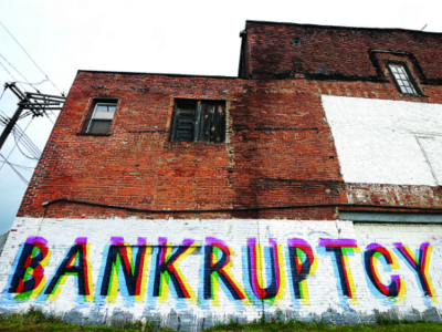 Bankruptcy street art