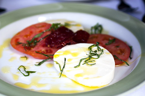 mozzarella & tomatoes @ lanza's