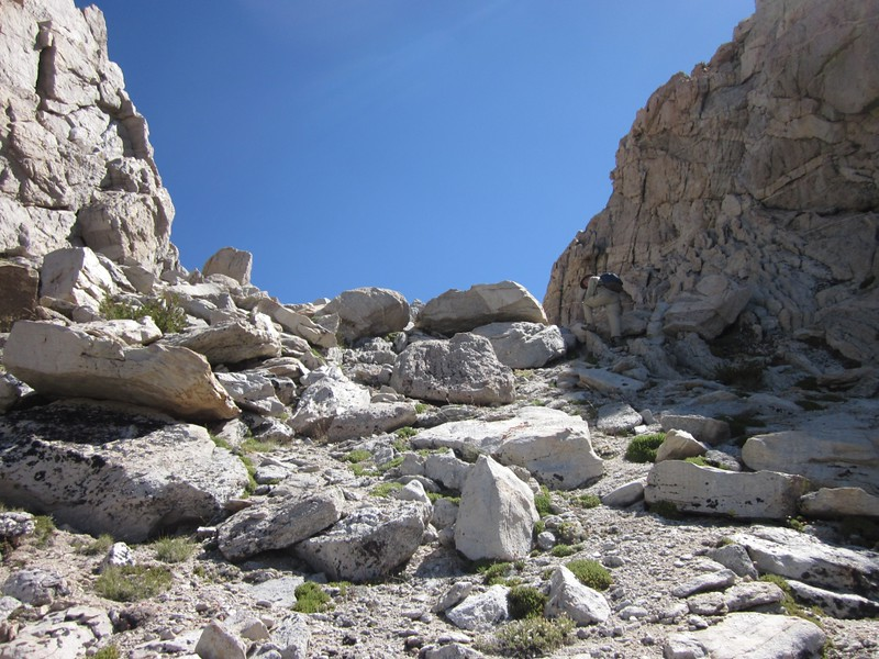 Crossing over the south ridge of Matterhorn Peak