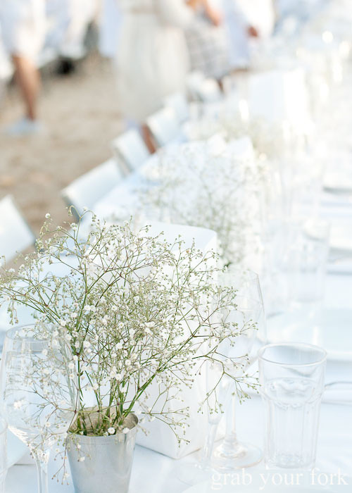 Babys breath at Diner en Blanc Sydney 2013 Bondi Beach