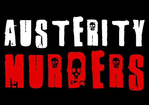 Austerity murders - black background by Teacher Dude's BBQ
