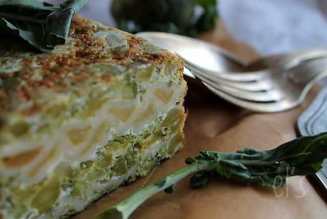 Flan de brocolis aux ravioles
