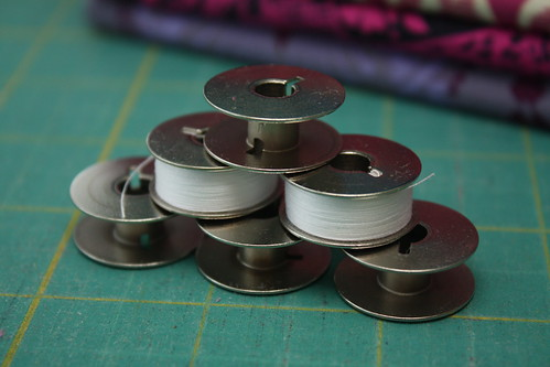 Extra wound bobbins - one of my favorite things