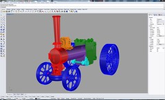CAD Model of my Quarter Scale Fowler A7 Scale Traction Engine
