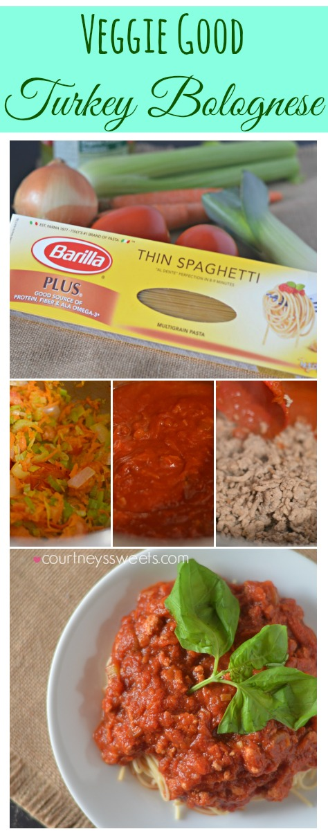 Veggie Good  Turkey Bolognese with Barilla Plus