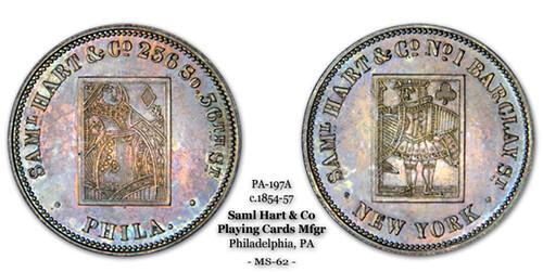 Samuel Hart token PA 197A