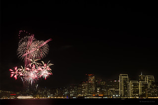 Fireworks at Treasure Island