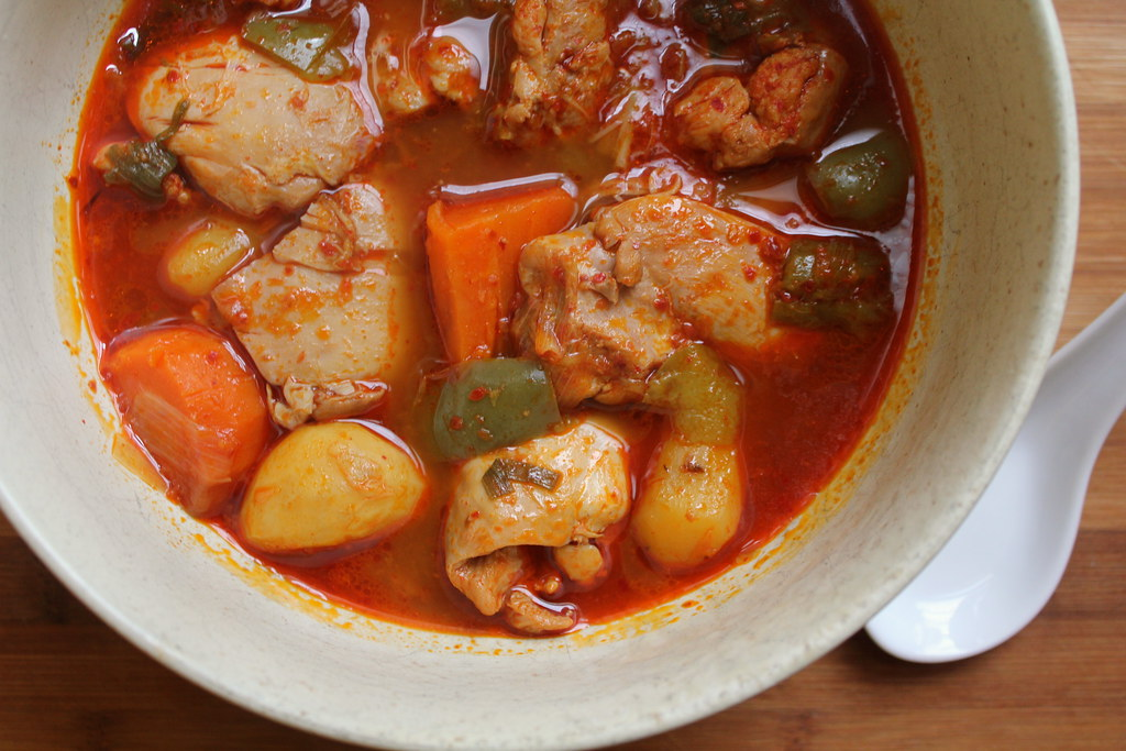 Korean Spicy Chicken Stew Recipe — Dishmaps