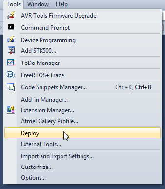 How to integrate AVRDude with Atmel Studio