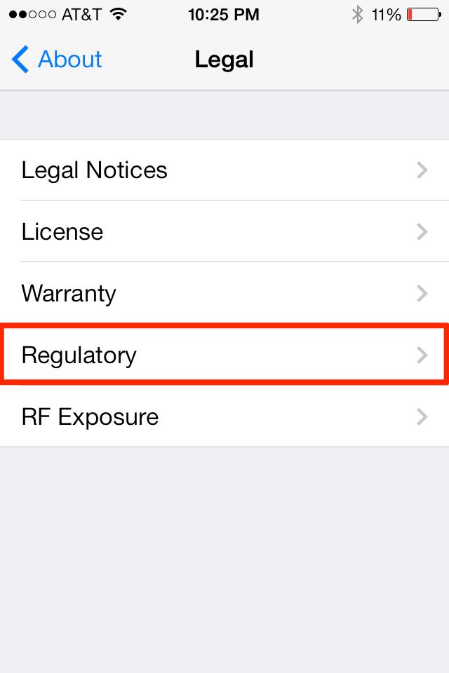 iPhone Regulatory 4