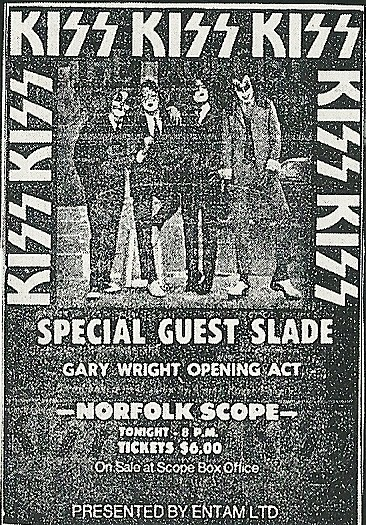 09/13/75 Kiss/ Slade/ Gary Wright @ Norfolk, VA