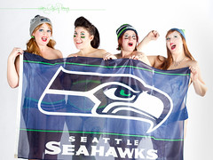 Rock Candy Burlesque are 12s! Go Hawks!