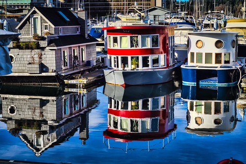 Houseboat Reflections