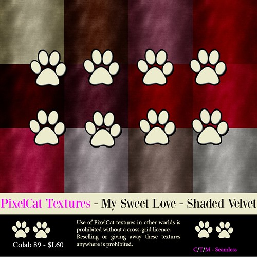 PixelCat Textures - My Sweet Love - Velvet Shaded Colab #89