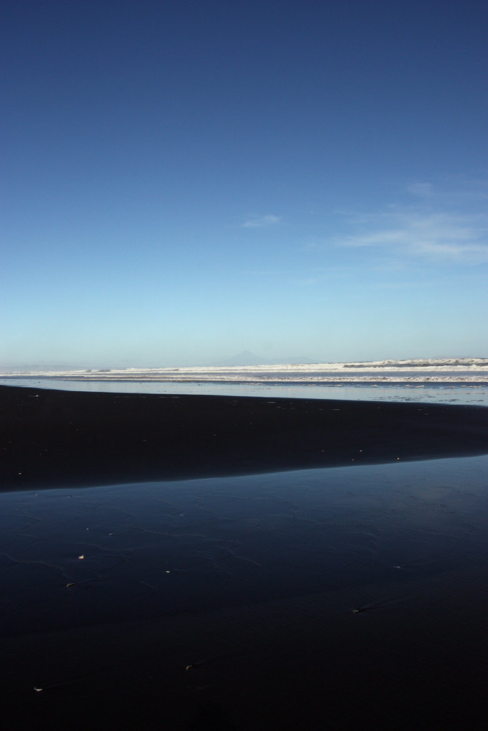 black beach at north taranaki bight
