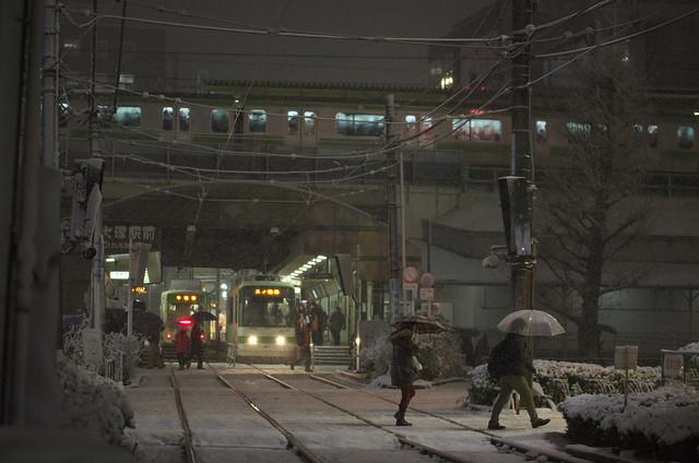 Tokyo Train Story 東京雪景色 都電荒川線 2014年2月14日