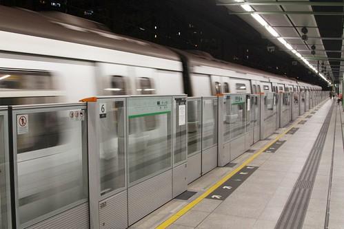 Automatic platform gates in place at Ngau Tau Kok station