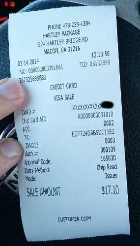 Post your receipt of your 1st EMV based transaction in the ...