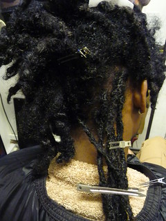 Attaching the ready made locs