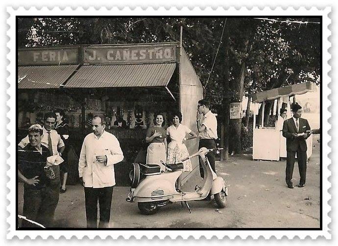 Feria en el Paseo de Merchán. Cortesía de la familia Torrecillas